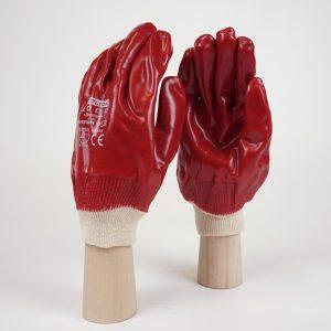 Red-PVC-Knit-Wrist-Gloves-G13007