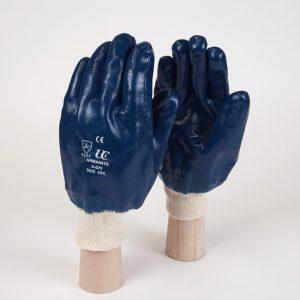 Blue-Nitrile-Knit-Wrist-Gloves